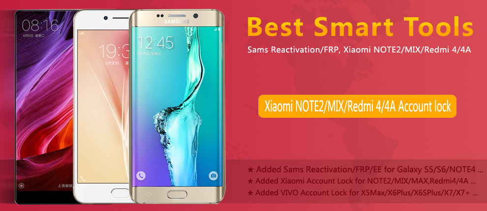 Sams Reset Reactivation/FRP, Xiaomi NOTE2/MIX/Redmi4/4A Reset Account Lock