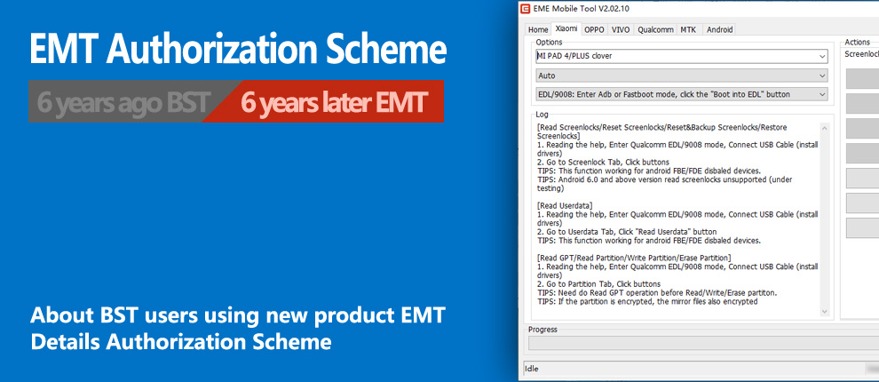 About BST users using EMT authorization scheme
